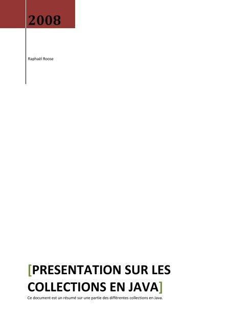 2008 [presentation sur les collections en java] - Cerbere.org