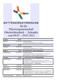 gottesdienstordnung - Pfarreiengemeinschaft Oberleichtersbach ...