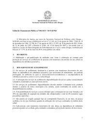 1 Edital de Chamamento Público nº 001/2013 - SENAD/MJ O ...