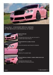 Vitesse Rosé – A MANSORY SPECIAL EDITION OF THE BENTLEY ...