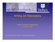 Writing Job Descriptions - Human Resources