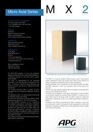 Micro Axial Series - APG