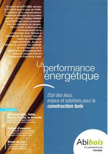 La Performance énergétique - Perspective Bois
