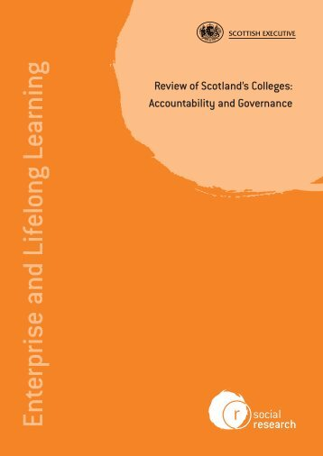 Review of Scotland's Colleges - Scottish Government
