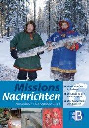 Nachrichten 2013-6 - Missionswerk FriedensBote