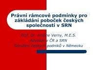 Zakládání zastoupení v SRN - AIP ČR