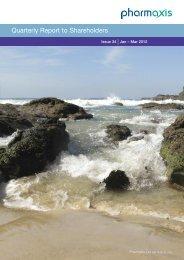 Quarterly Report - Pharmaxis