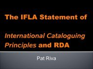 Diapositive 1 - Joint Steering Committee for Development of RDA