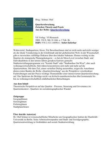Quartiersforschung - Urban Improvement Districts