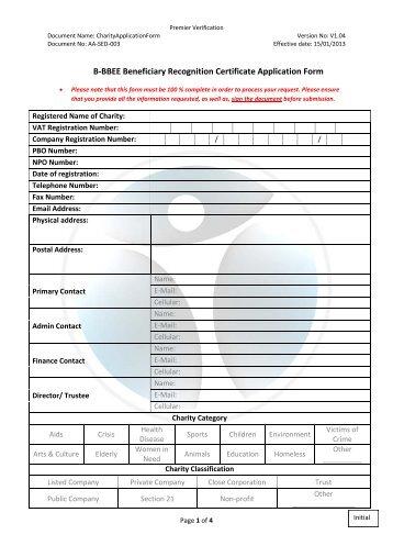 Complaints Form - Premier Verification (Pty) Ltd