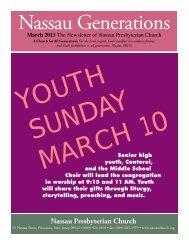 March - Nassau Presbyterian Church