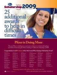 Congratulations to all 50 winnersof the 14th Annual ... - PfizerPro