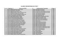 Lista de tutoria dos alunos com entrada no 2º/2011