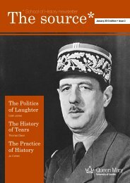 The Source Issue 2 - School of History - Queen Mary University of ...
