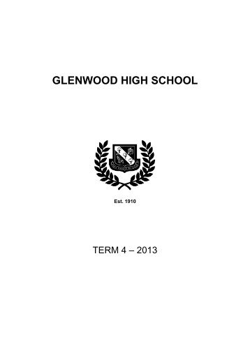 Calendar TERM 4 2013.pdf - Glenwood High School