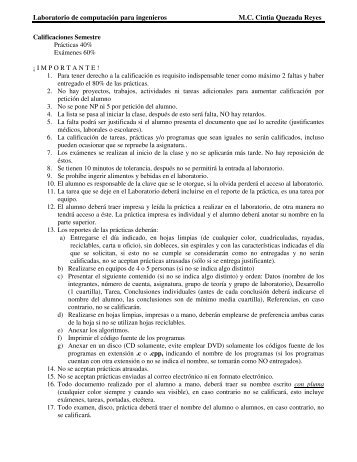 Laboratorio de computación para ingenieros M.C. Cintia ... - UNAM