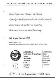 ' '/ Description des cépages du monde - OIV