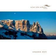 winterpreisliste 2013/14 - Seiser Alm Hotels