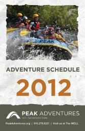 2012 adventure schedule - Peak Adventures