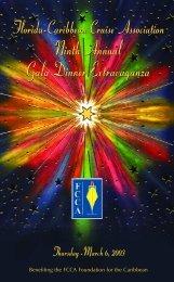 2003 Gala Program FINAL - The Florida-Caribbean Cruise Association