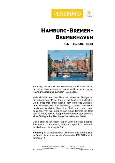 Hamburg Bremen 2013.pages - World of Travel