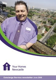 Concierge Service newsletter June 2008 - Your Homes Newcastle