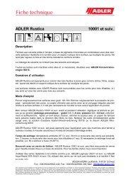 ADLER Aquasoft PU 30161 ff - ADLER - Lacke