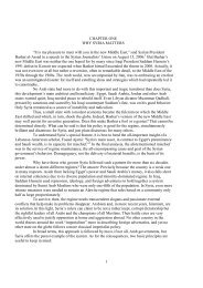 """1 CHAPTER ONE WHY SYRIA MATTERS """"It is my ... - GLORIA Center"""