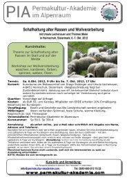 Schafhaltung alter Rassen und Wollverarbeitung - Permakultur ...