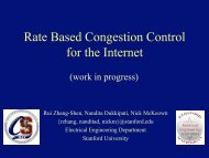 Rate Based Congestion Control for the Internet - Stanford University