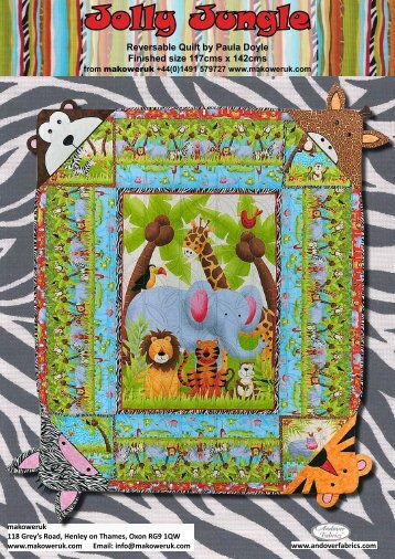 zebra template - Passion4Quilting
