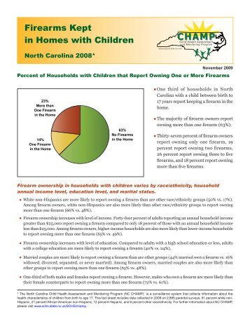 Firearms Kept in Homes with Children - NC State Center for Health ...