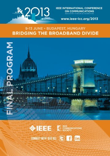 9-13 JUNE • BUDAPEST, HUNGARY CONNECT ... - IEEE ICC 2013