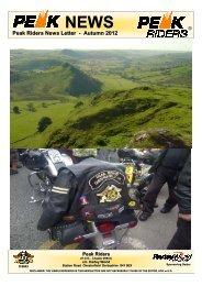Peak Riders News Letter - Autumn 2012