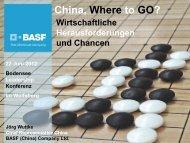 China, Where to GO? - Wolfsberg