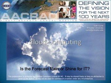 Cloud Computing - AACRAO