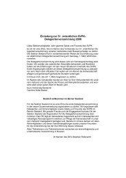 Einladung zur 51. ordentlichen SVPK- Delegiertenversammlung 2008