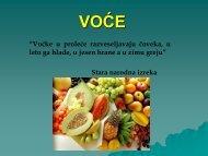 Poljoprivredno prehrambeni proizvodi - Voce