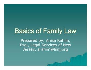 Basics of Family Law - Manavi