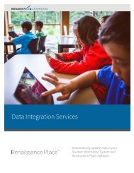 Data Integration Services - Renaissance Learning