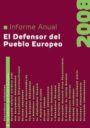 El Defensor del Pueblo Europeo - europäisches ombudsmann institut