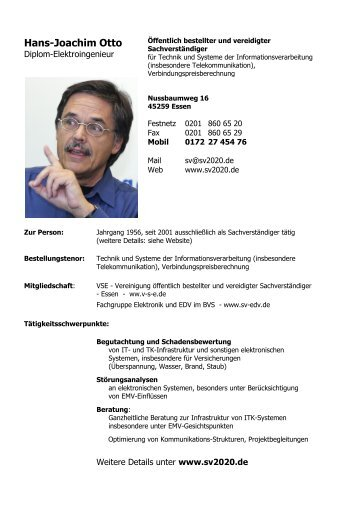 Hans-Joachim Otto Diplom-Elektroingenieur - Fachgruppe ...