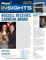 Insights June 2012 Volume X, Issue 3 - Pioneer Career ...