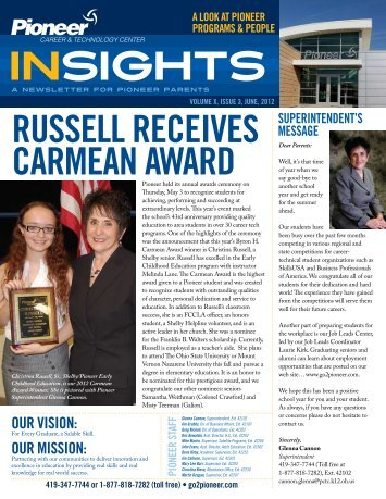 Insights June 2012 Volume X, Issue 3 - Pioneer Career ...