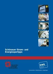 Stromsparbroschüre der EWS - Rheinau Solar