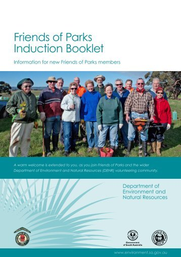 Friends of Parks Induction Booklet - Communitywebs.org