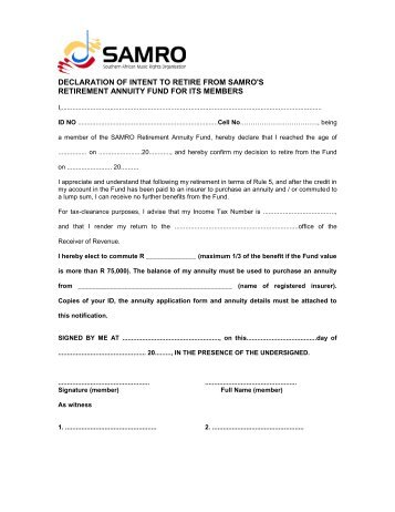 Ill Health Early Retirement Notification Form - samro