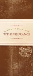 HOME BUYERS - Arizona Department of Insurance