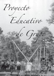 Proyecto Educativo de Grupo - Grupo Scout Pilar