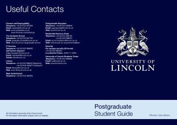 Postgraduate Handbook (PDF) - University of Lincoln